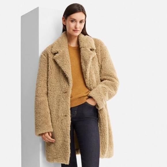 525e3899a9 Uniqlo Jackets & Coats | Pile Lined Fleece Long Sleeve Tailored Coat ...